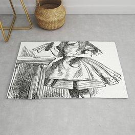Alice in Wonderland Drink Me Bottle Transparent Background Rug