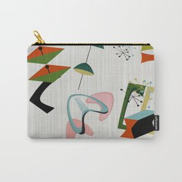 Retro Atomic Era Inspired Art Carry-All Pouch
