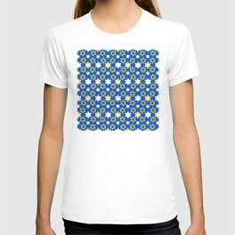 Hanukkah Star Of David Modern, Contemporary Pattern T-shirt