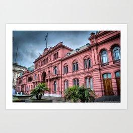Casa Rosada de Buenos Aires Art Print