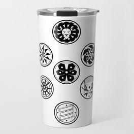Factions black & white Travel Mug
