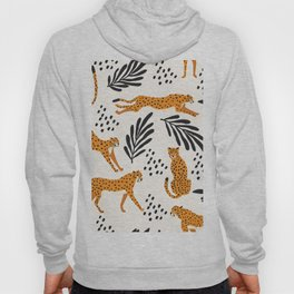 Cheetahs pattern on white Hoody