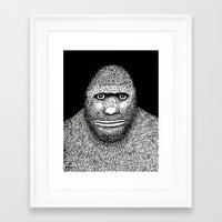bigfoot Framed Art Prints featuring Bigfoot by The Art of Filippo Borghi
