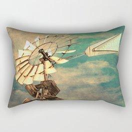 Rustic Windmill against Cloudy Sky A520 Rectangular Pillow