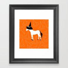 Witch Hat Unicorn Framed Art Print
