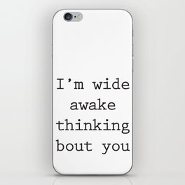 Wide Awake Print iPhone Skin