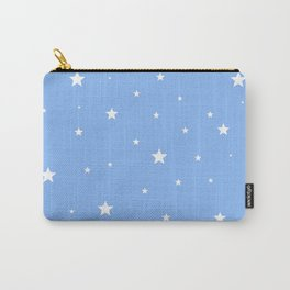 Scattered Stars on Sky Blue Carry-All Pouch