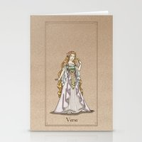 valar morghulis Stationery Cards featuring Vana by wolfanita