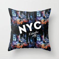 NEW-YORK (LIBERTEE CITY) Throw Pillow