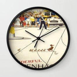 Vintage poster - Copenhagen Wall Clock