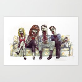Dead whit children Art Print