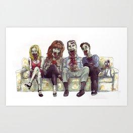 Dead whit children Art Print
