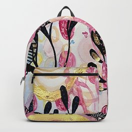 Gilded Abstract Print Backpack