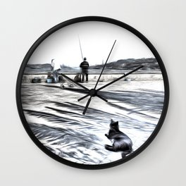 The Waiting Game Art Wall Clock
