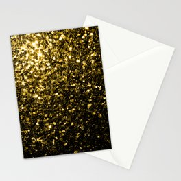 Beautiful Yellow Gold sparkles Stationery Cards