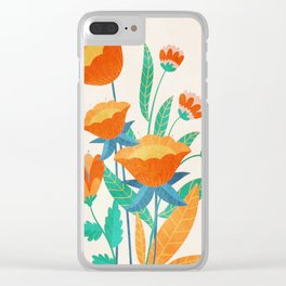 Summer Flowers I Clear iPhone Case