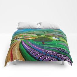 Morning in Avocado Hills Comforters