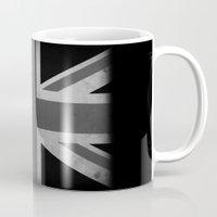 jack white Mugs featuring Union Jack - Black&White by NicoWriter