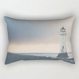 the lights will guide you home ... lighthouse photograph Rectangular Pillow