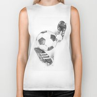 football Biker Tanks featuring Football by Dianadia