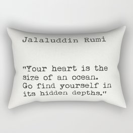 Rumi quote Rectangular Pillow