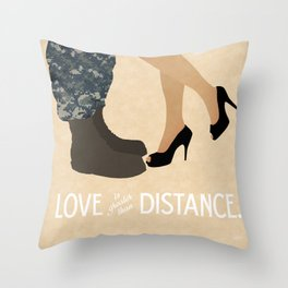 Love is Greater than Distance - Navy Throw Pillow