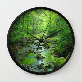 Rocky Forest Creek Wall Clock