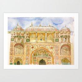 Amer Fort Art Print