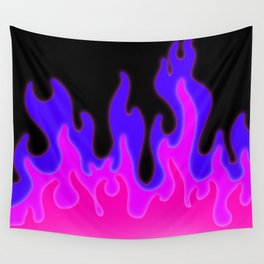 Bright Pink and Purple Flames! Wall Tapestry