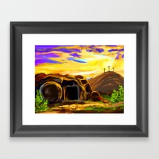 The cave Framed Art Print