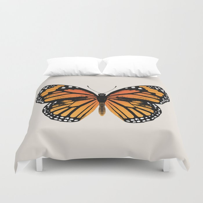 Monarch Butterfly   Vintage Butterfly   Duvet Cover
