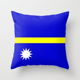 Nauru country flag Throw Pillow