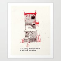 Kept from the children Art Print