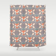 Foxes and rabbits Shower Curtain