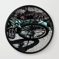 bike Wall Clocks featuring bike by gzm_guvenc