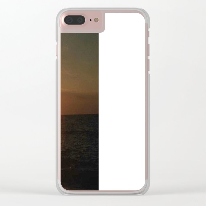 A Romantic Night at the Beach Clear iPhone Case