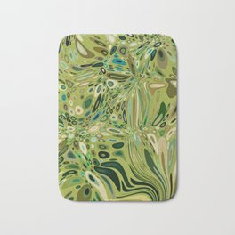 SOYLENT textured abstract in shades of green - lime to emerald Bath Mat