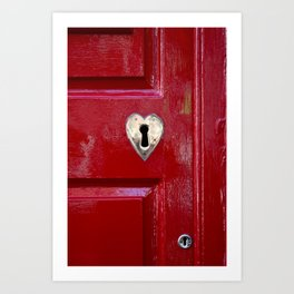 Heart Shaped Lock Art Print