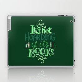 Hoarding Books - Green Laptop & iPad Skin