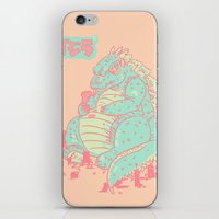 godzilla iPhone & iPod Skins featuring Godzilla by Tapioles II