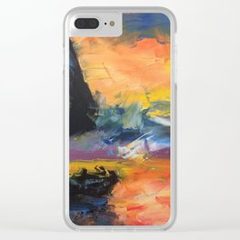 Yacht at Sunset Clear iPhone Case