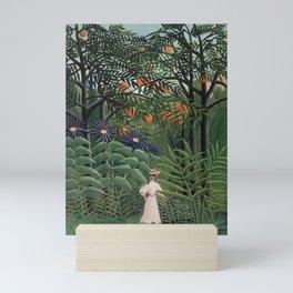 Woman Walking in an Exotic Forest (Femme se promenant dans une forêt exotique) (1905) by Henri Rouss Mini Art Print