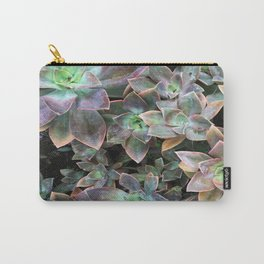 Green and lavender succulents Carry-All Pouch