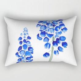 2 abstract blue grape hyacinth watercolor Rectangular Pillow