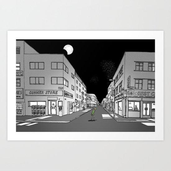 Night Walk Art Print