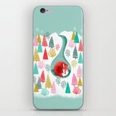 Winter's Fox by Andrea Lauren  iPhone & iPod Skin