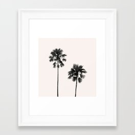 Palm in pink Framed Art Print