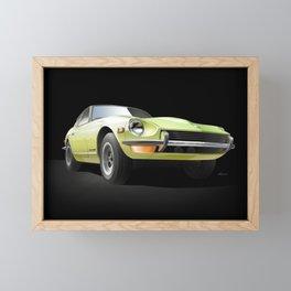 Key Lime Night Drive. Framed Mini Art Print