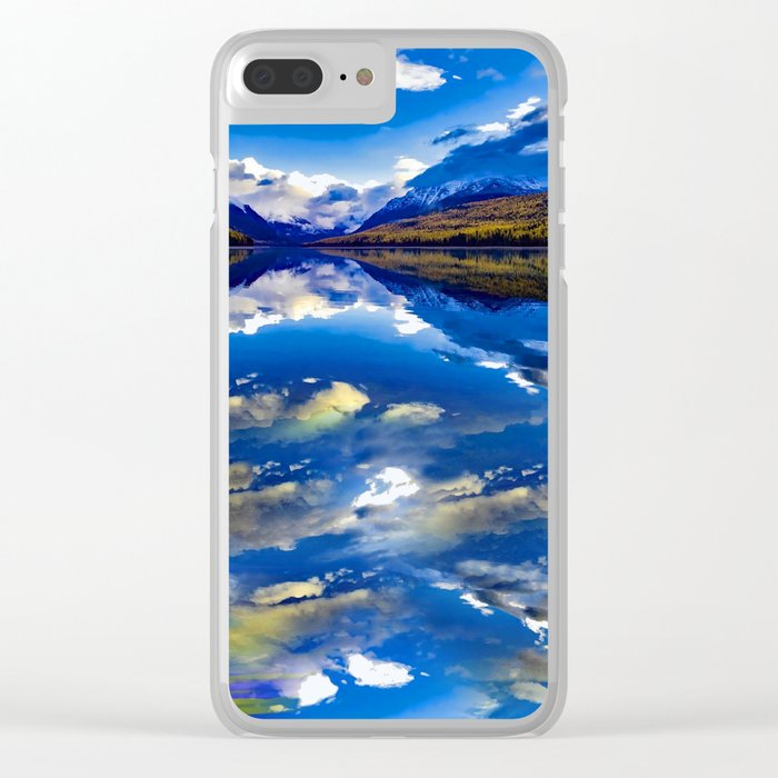 A CLOUDY DAY AT LAKE MCDONALD Clear iPhone Case