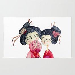 Pink Geishas Rug